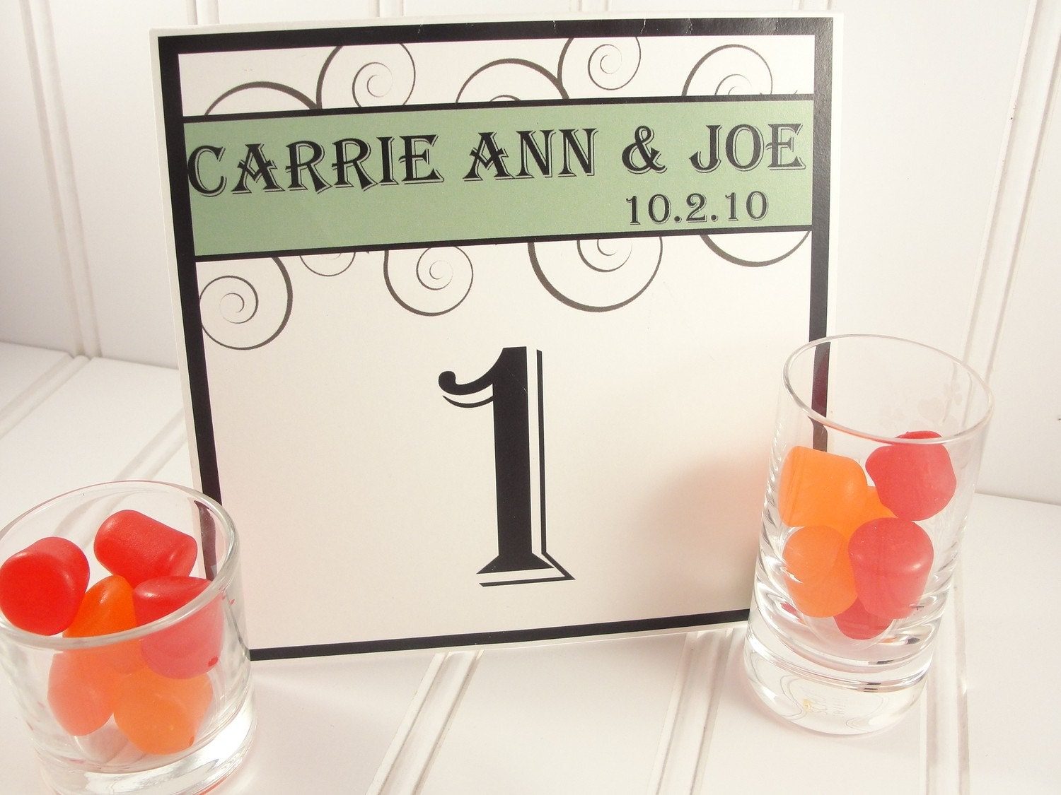 Wedding Reception Table Number Cards Tent By LavenderPaperie1