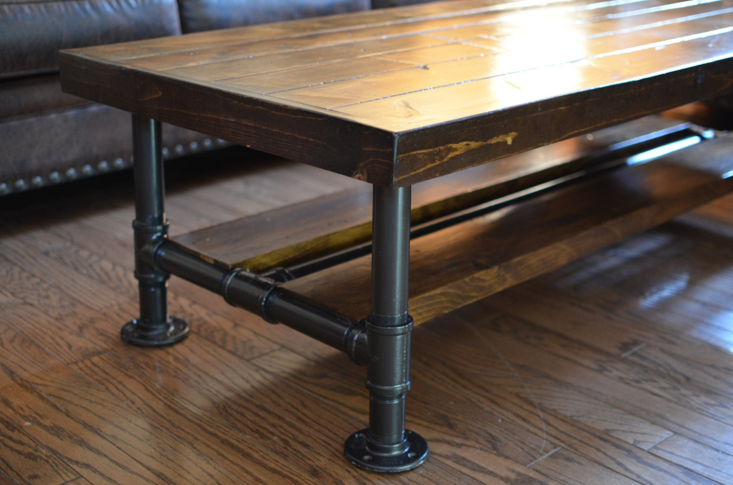 Industrial Knotty Pine Coffee Table With By Ocrusticwoodworks