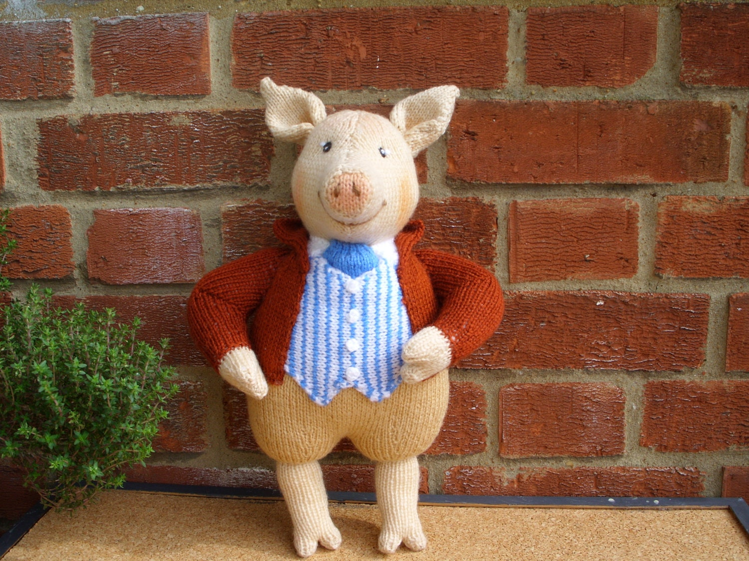 Peter Rabbit Knitting Patterns Free : Hand knitted toy beatrix potter pigling bland by