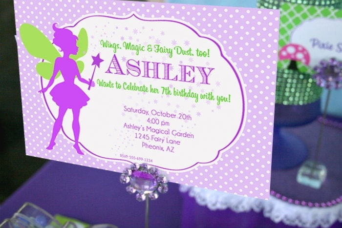 Fairy Birthday Invitation | Fairy Garden Party Invitation ...