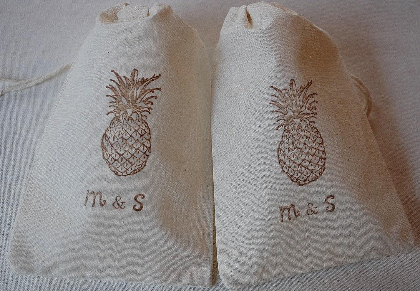 Wedding Favor Bags Brown : 10 Personalized Wedding Favor Bags Brown by JennifersCookies
