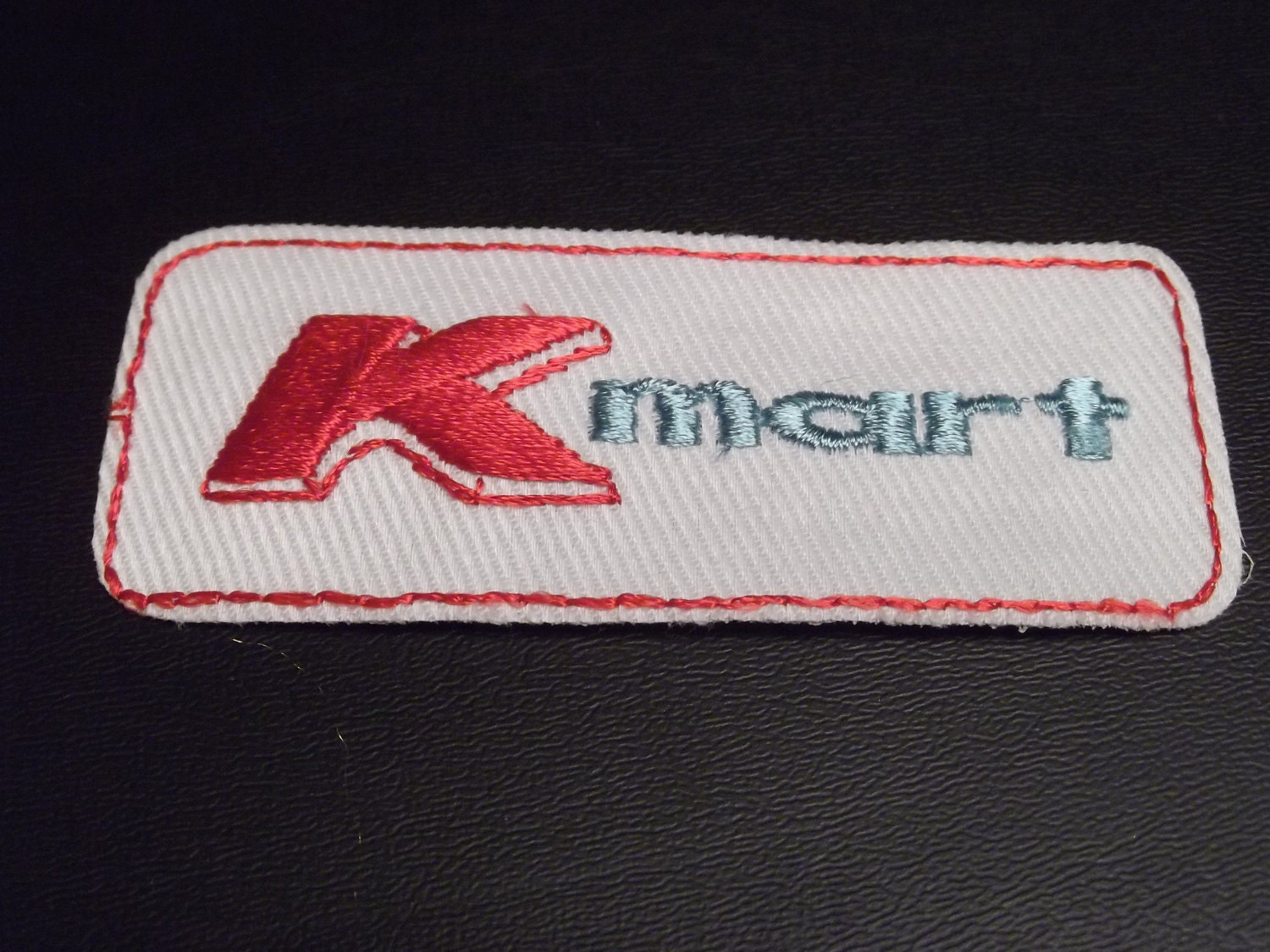 Vintage kmart logo patch employee uniform 1970s 1980s by for Kmart shirts for employees