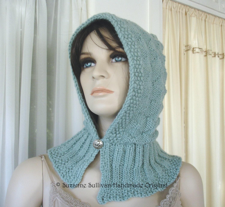 Easy Hooded Scarf Knitting Pattern : PDF Knitting Pattern, Hooded Scarf Pattern, Hooded Hat Pattern, Abby Diamond ...