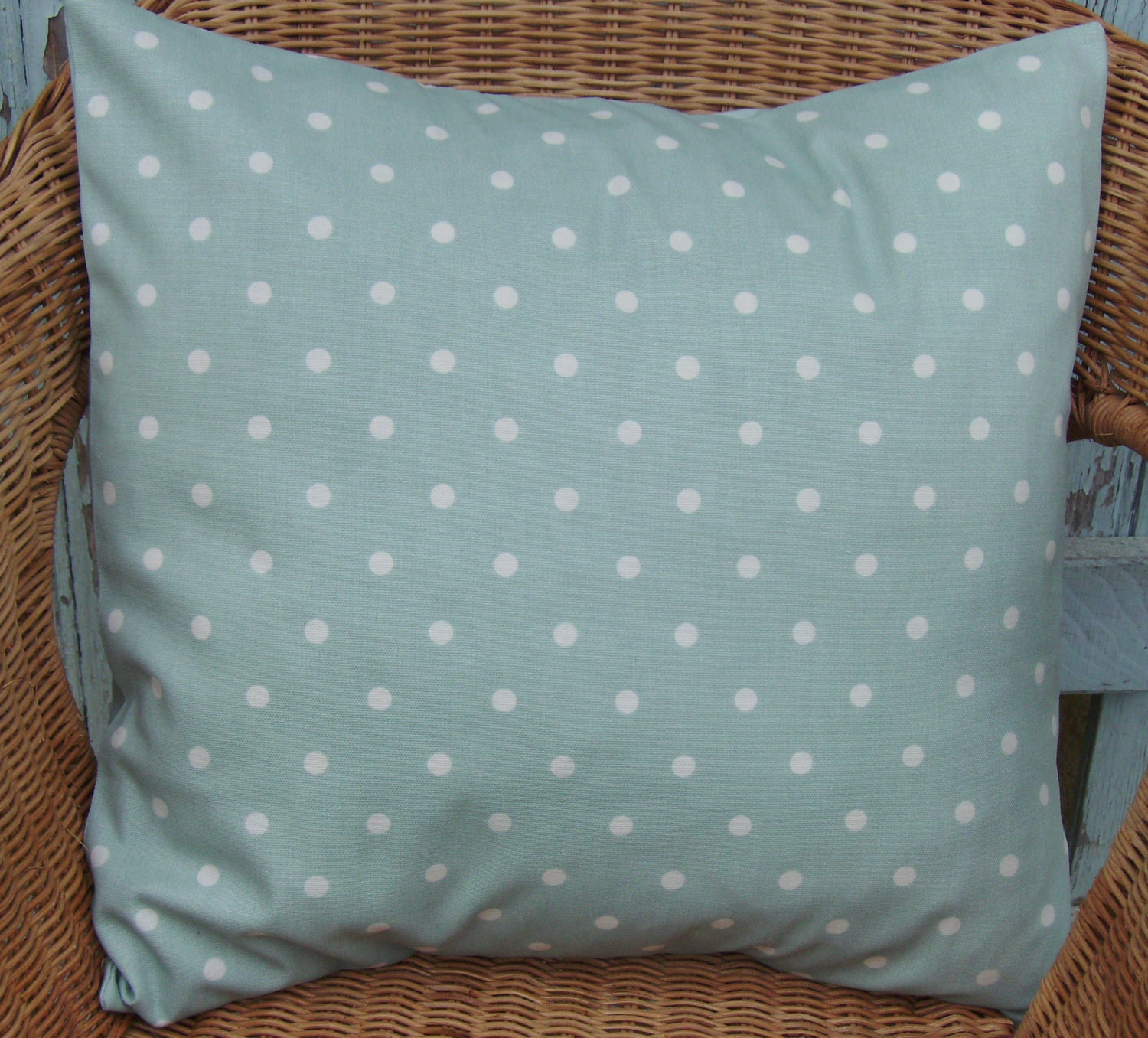duck egg blue pillow cover duck egg pillow blue by chezlele. Black Bedroom Furniture Sets. Home Design Ideas