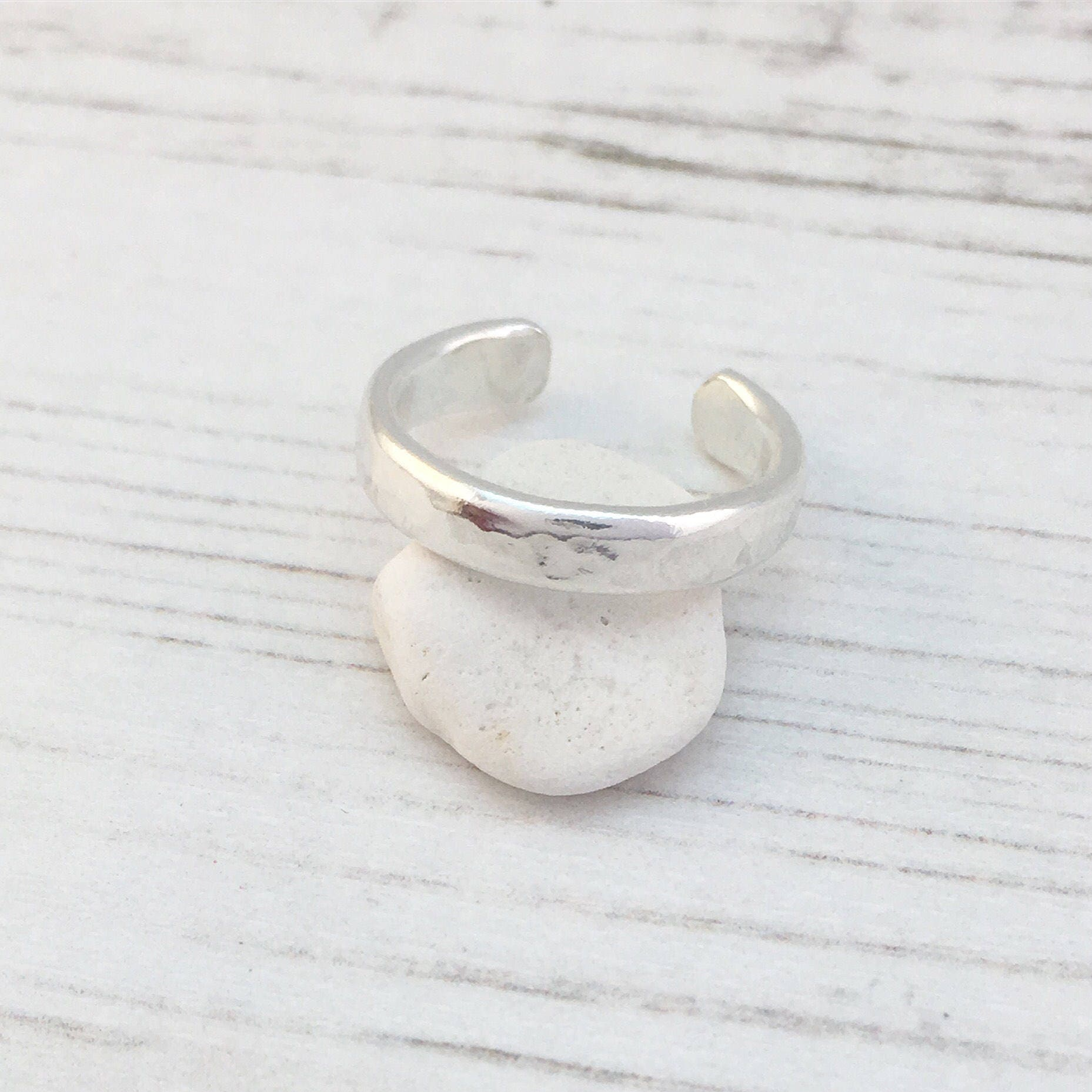 Silver Toe Ring Sterling Silver Toe Ring Hammered Silver Toe Ring Summer fashion Body Jewellery Boho Jewellery Adjustable Silver Ring