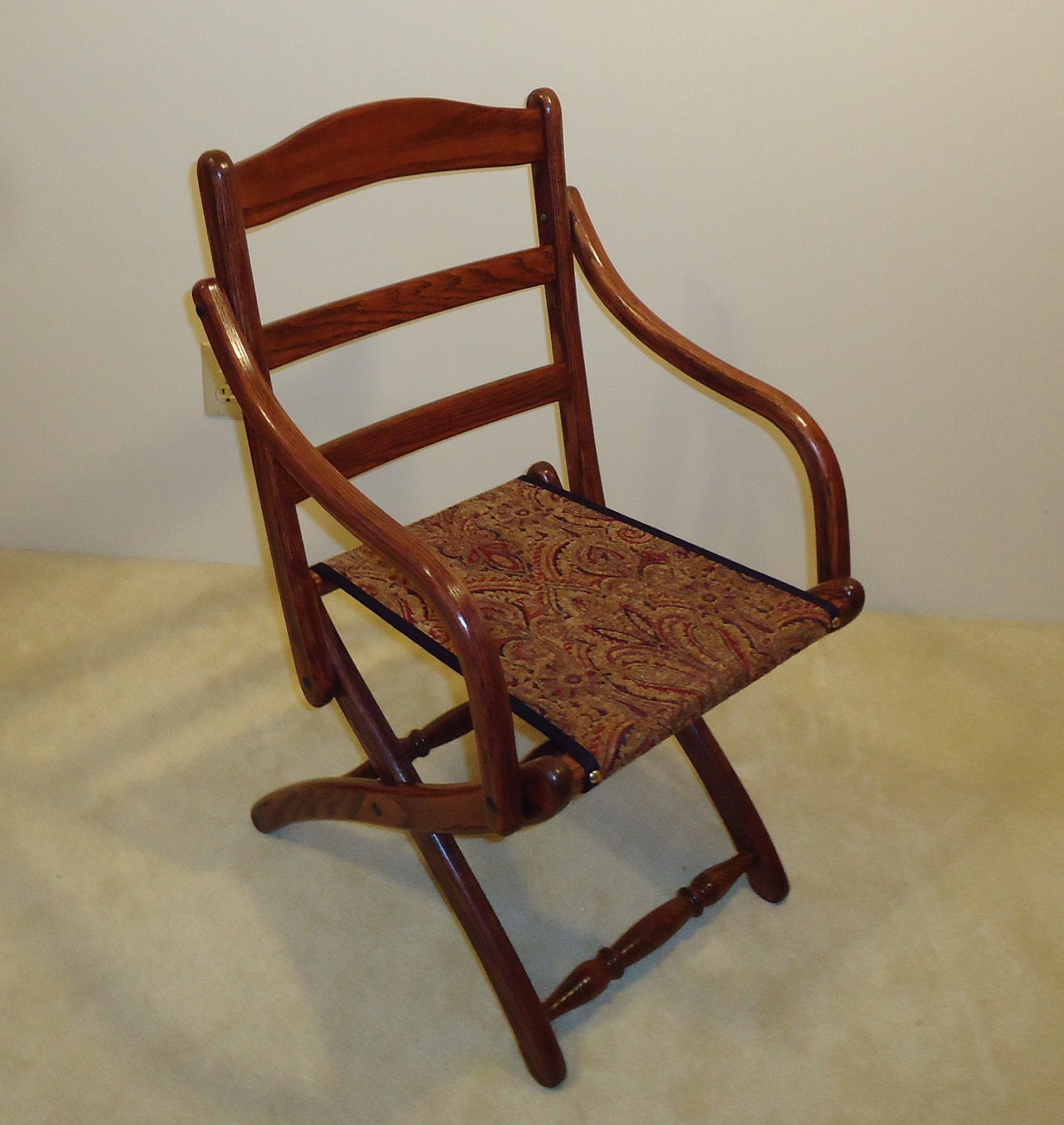 Civil War Folding Arm Chair by PaWoods on Etsy