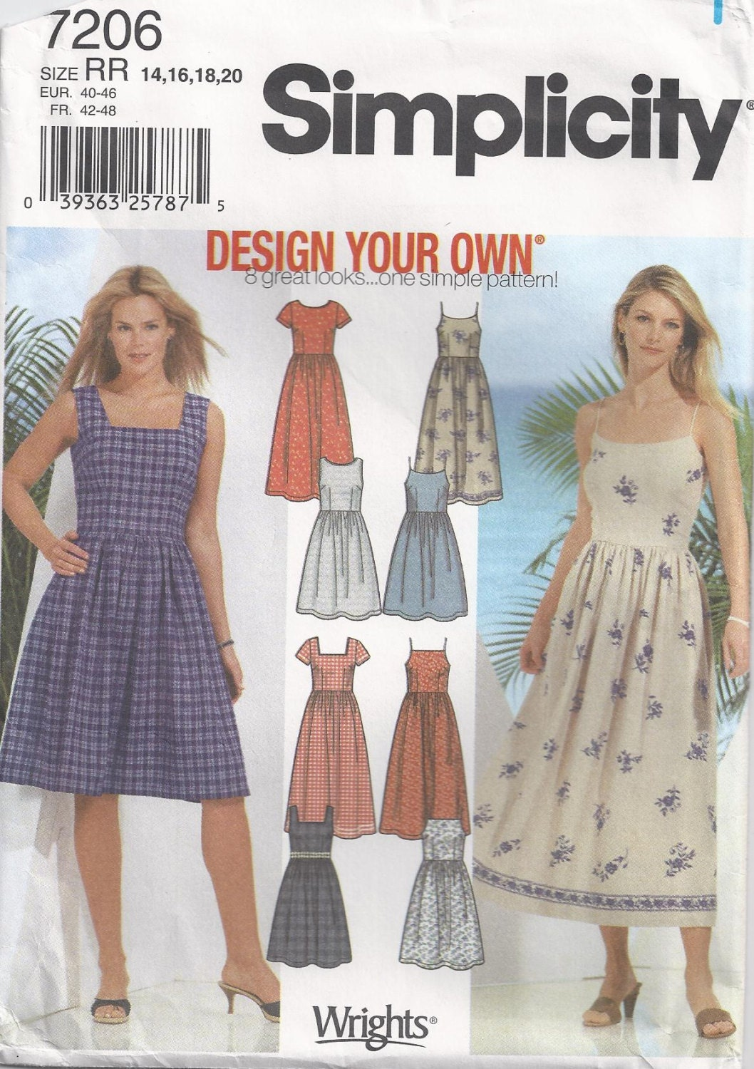Sundress Sewing Pattern Size 14 To Plus Size 20 Unused by