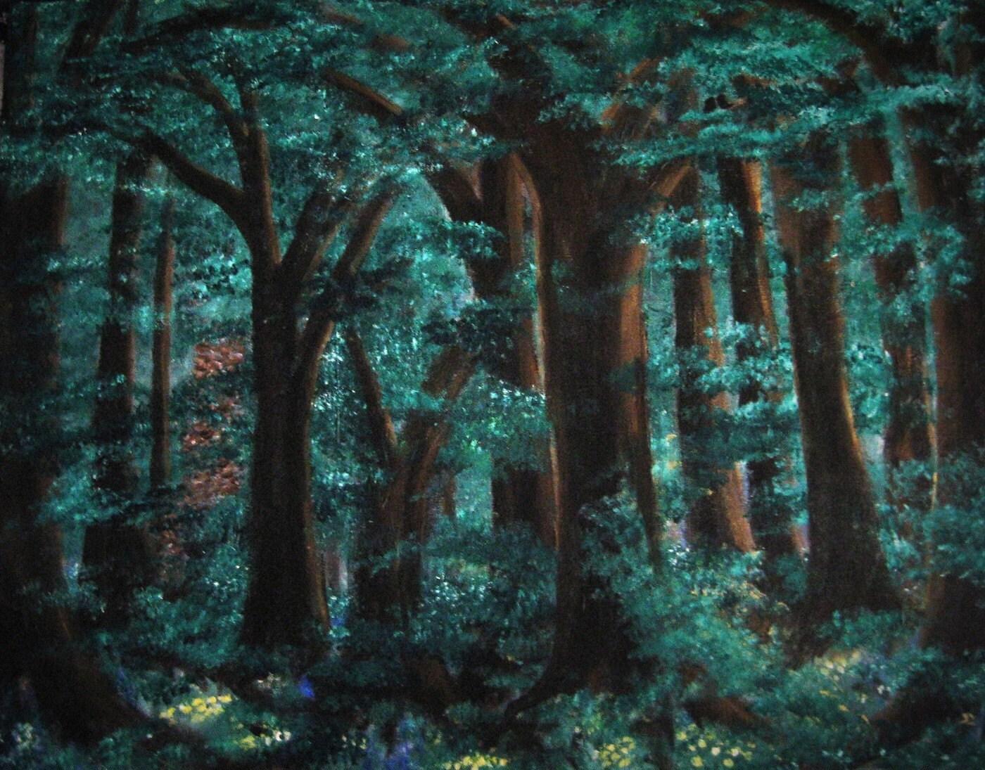 Timeless original acrylic painting 22x28 - TwigStudioArt