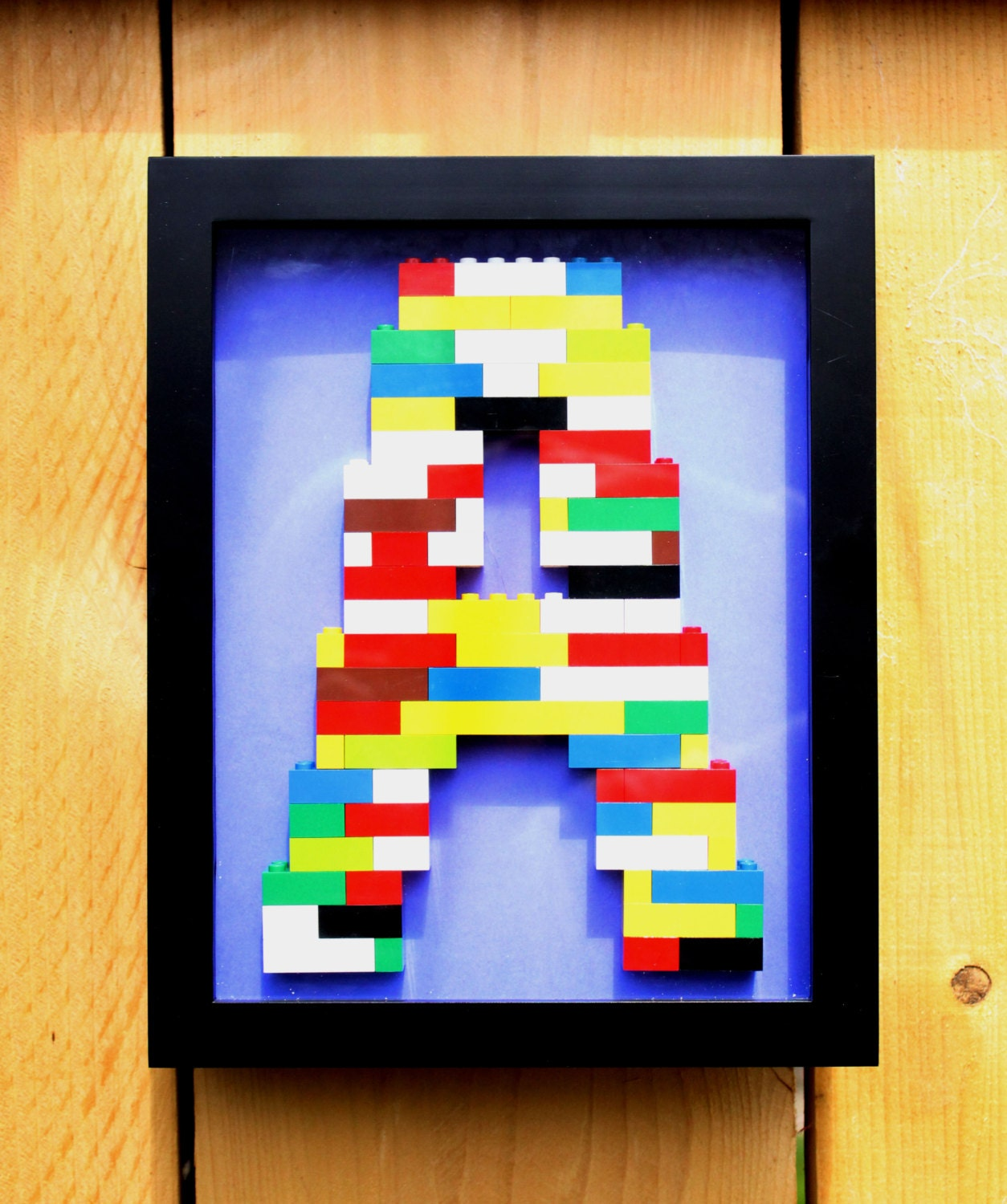 Monogram Lego Wall Art By Bitterstore On Etsy