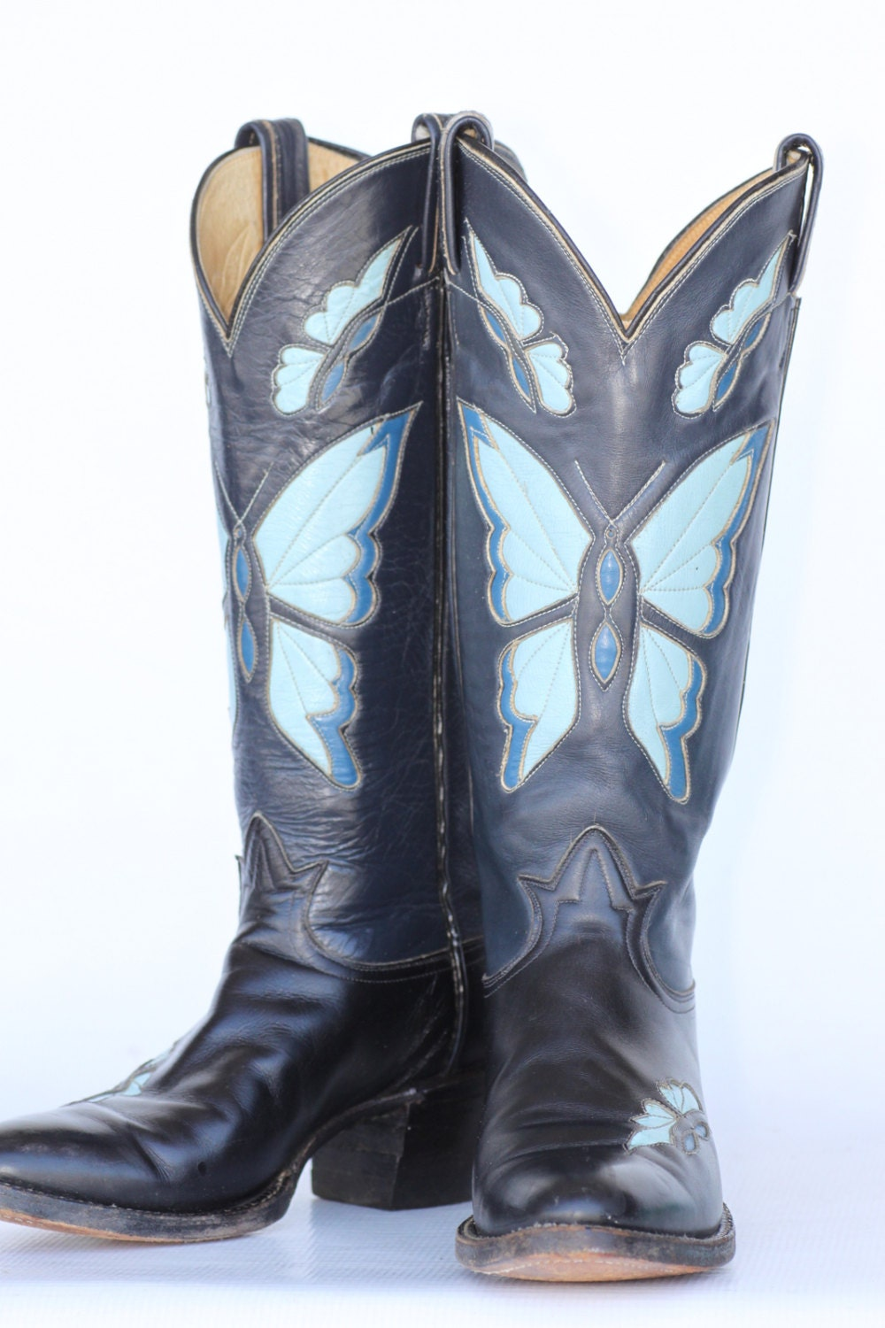 Navy Blue Cowgirl Boots - Cr Boot