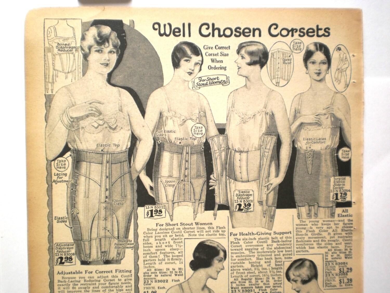 womens lingerie ad fashion print ladies by vintagecarolina. Black Bedroom Furniture Sets. Home Design Ideas
