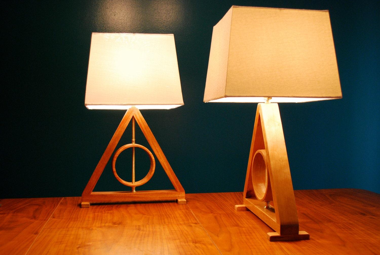 harry potter deathly hallows table lamp harry potter kids lamp living room lamp geometric lamp. Black Bedroom Furniture Sets. Home Design Ideas