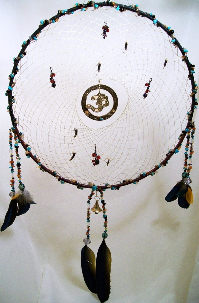 Omkar Native Glow in the Dark Gemstone Dreamcatcher