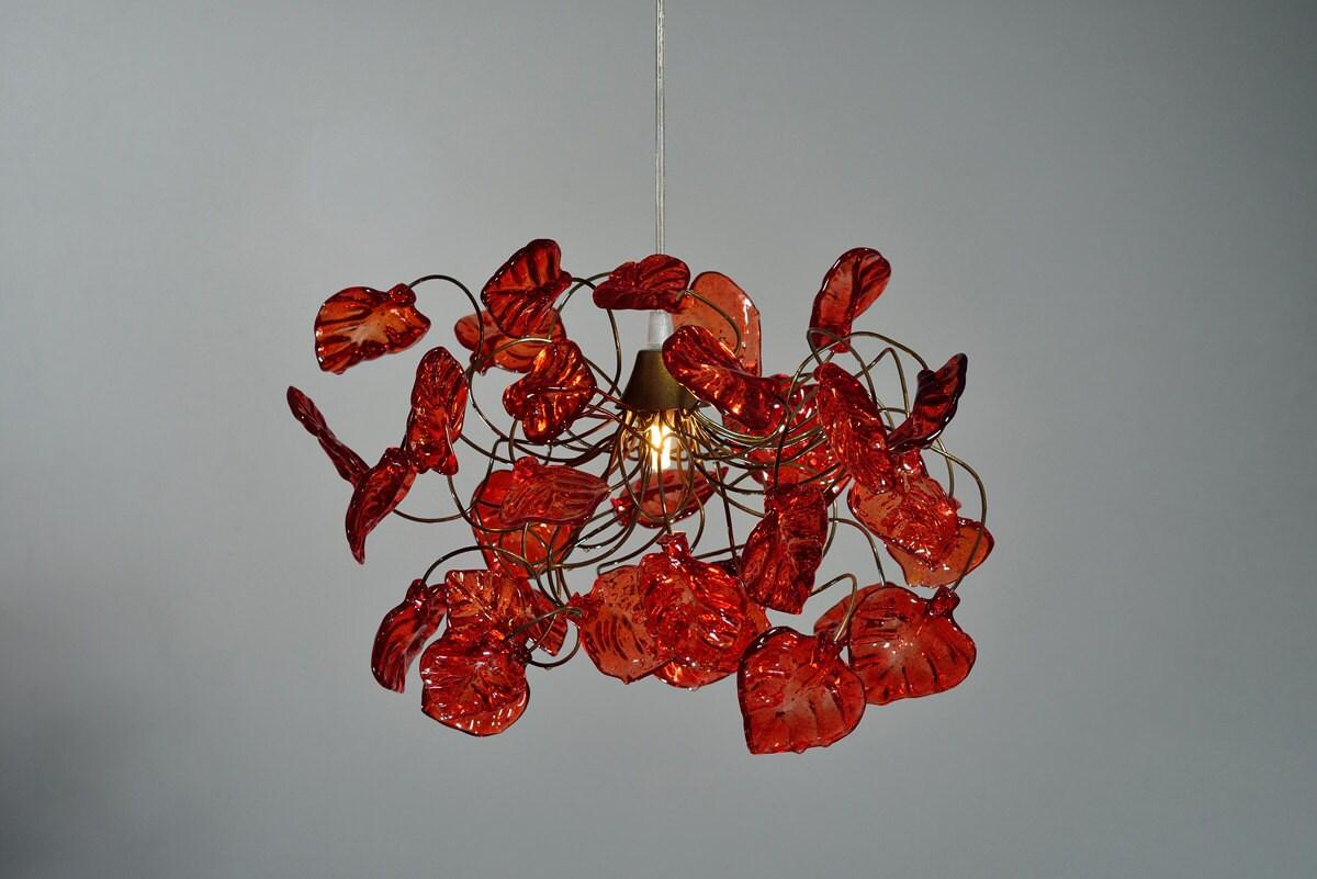 Plafonnier Feuilles de couleur rouge par yehudalight sur
