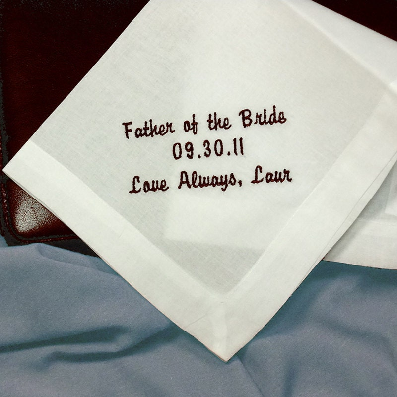 Personalized Wedding Handkerchiefs For By CoutureWeddingHankie