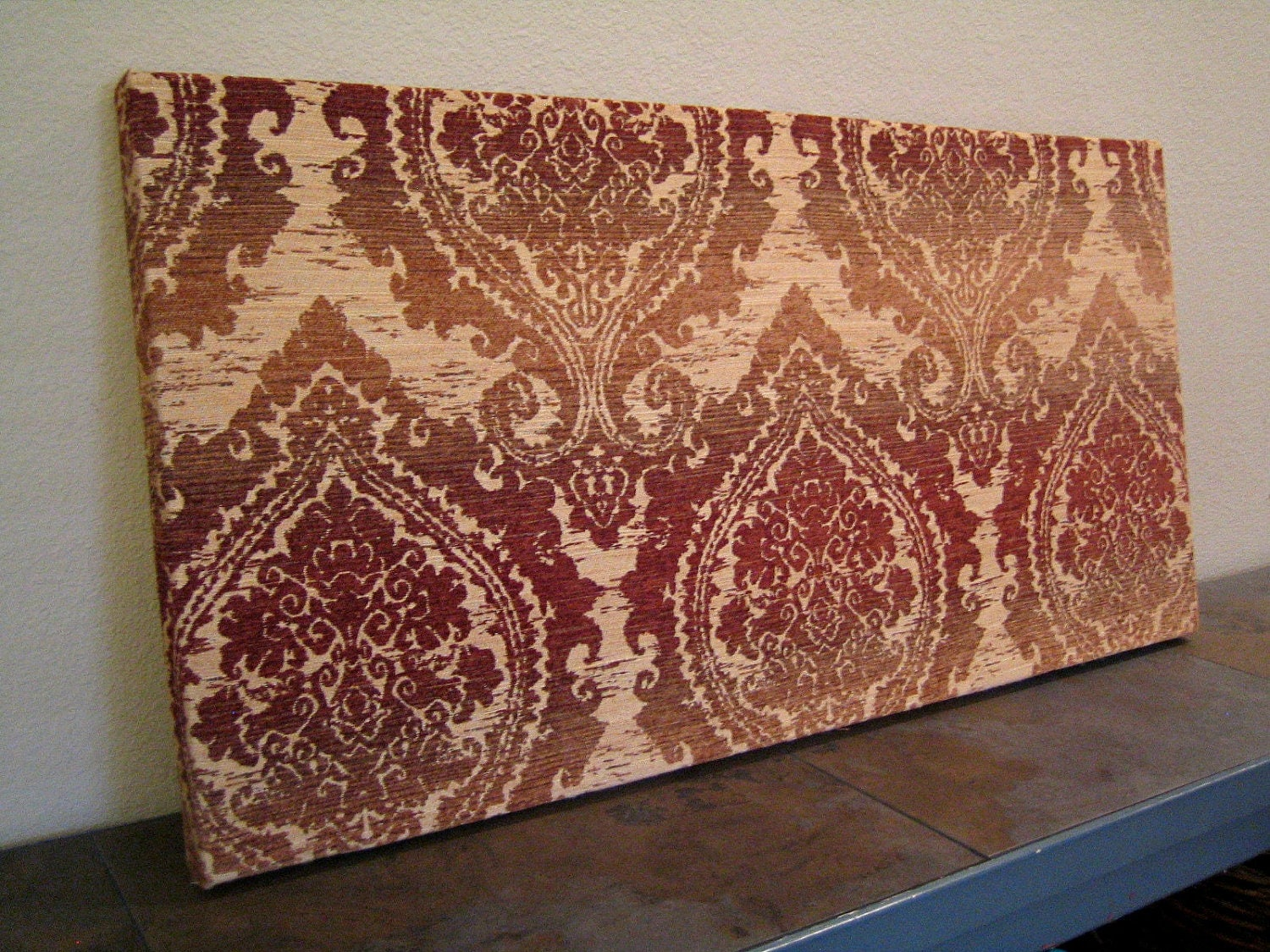 Fabric Panel Wall Art : Fabric panel wall art brick damask ombre by