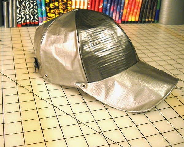 Duct Tape Baseball Cap, 100 Percent Duct Tape, Gray Two Tone - MalleableGifts
