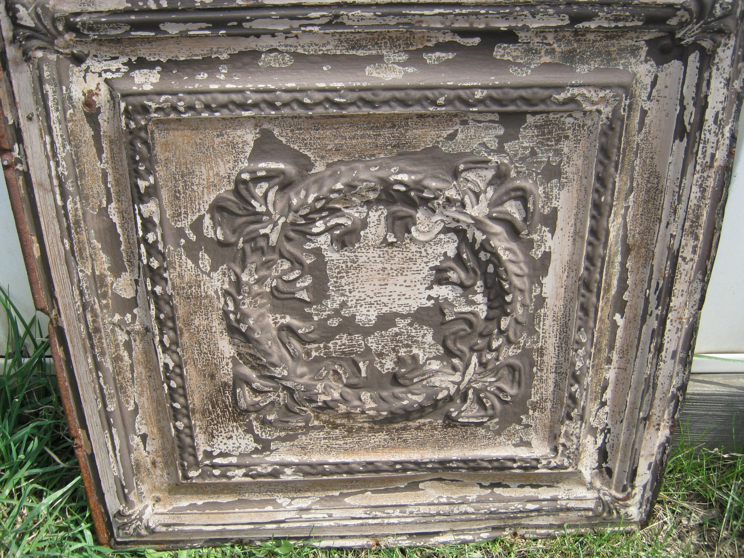 19 tin ceiling tiles 12x12 antique tin ceiling tile wreath tin ceiling tiles 12x12 by antique tin ceiling tile wreath crafters panel by dailygadgetfo Choice Image