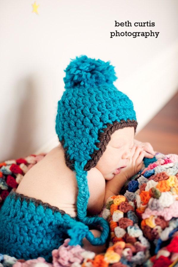 Crochet Chunky Earflap Hat Pattern : Crochet PATTERN 112 Beginner Crochet Basic Chunky by ...