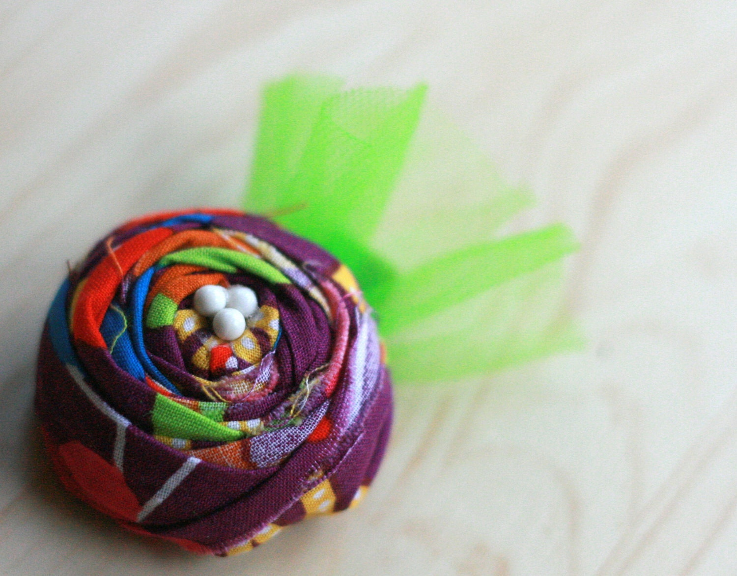 Rosette Hairclip colorful