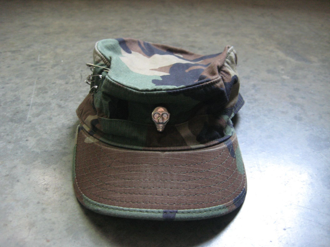 Authentic Military Skull Hat - trashclothing