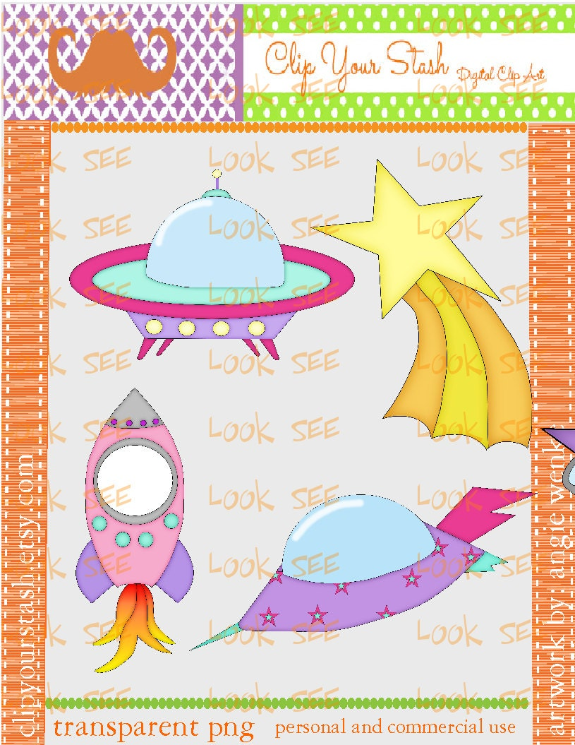 Purple Shooting Stars Clip Art Night spaceship rocket shooting star ...