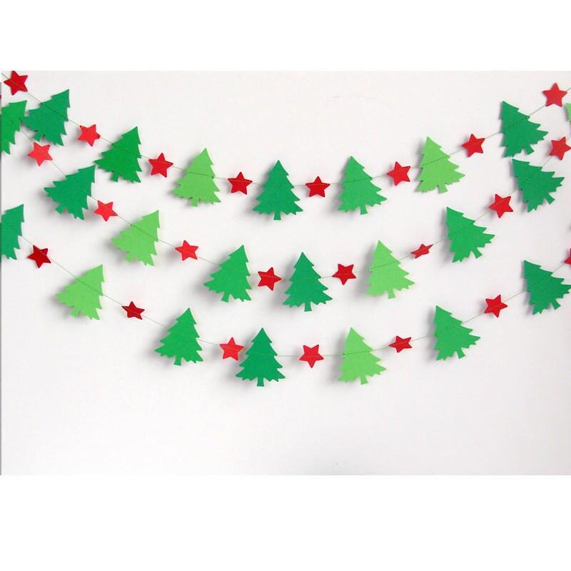 Новогодняя гирлянда новогодние своими руками из бумаги 45