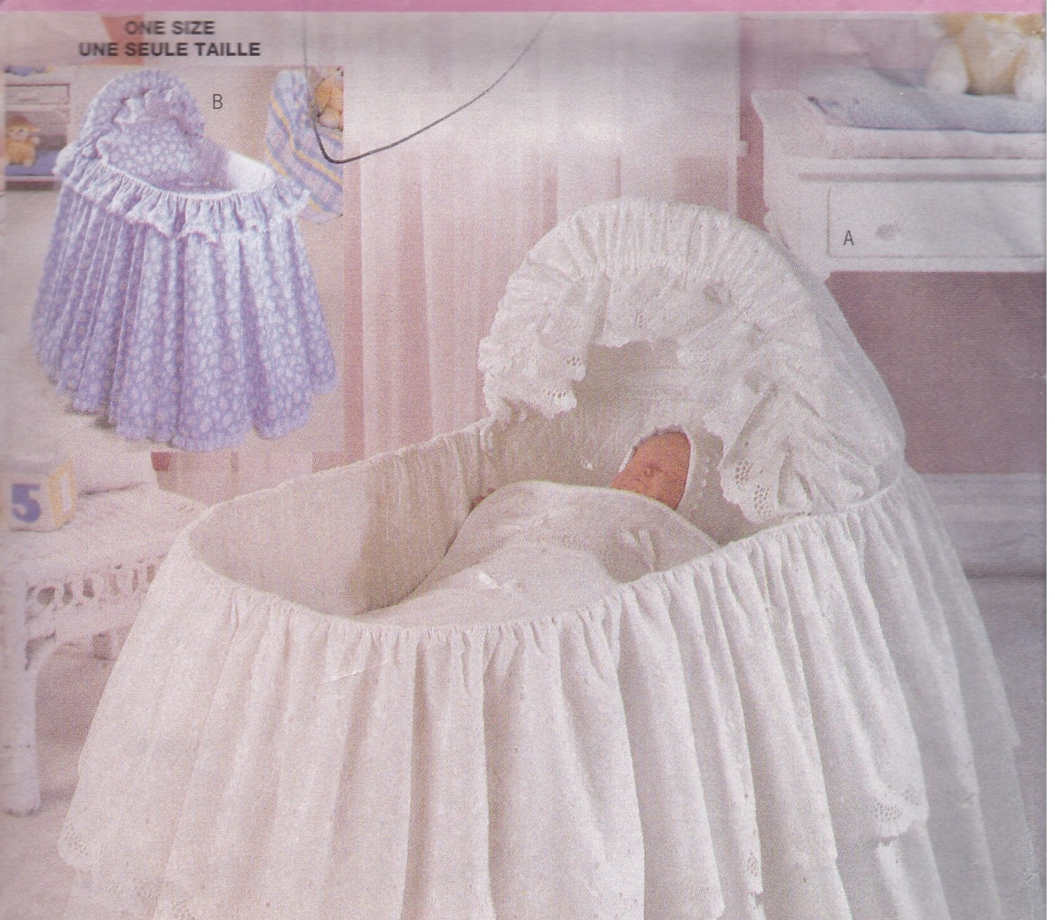 Bassinet Skirt Pattern 96