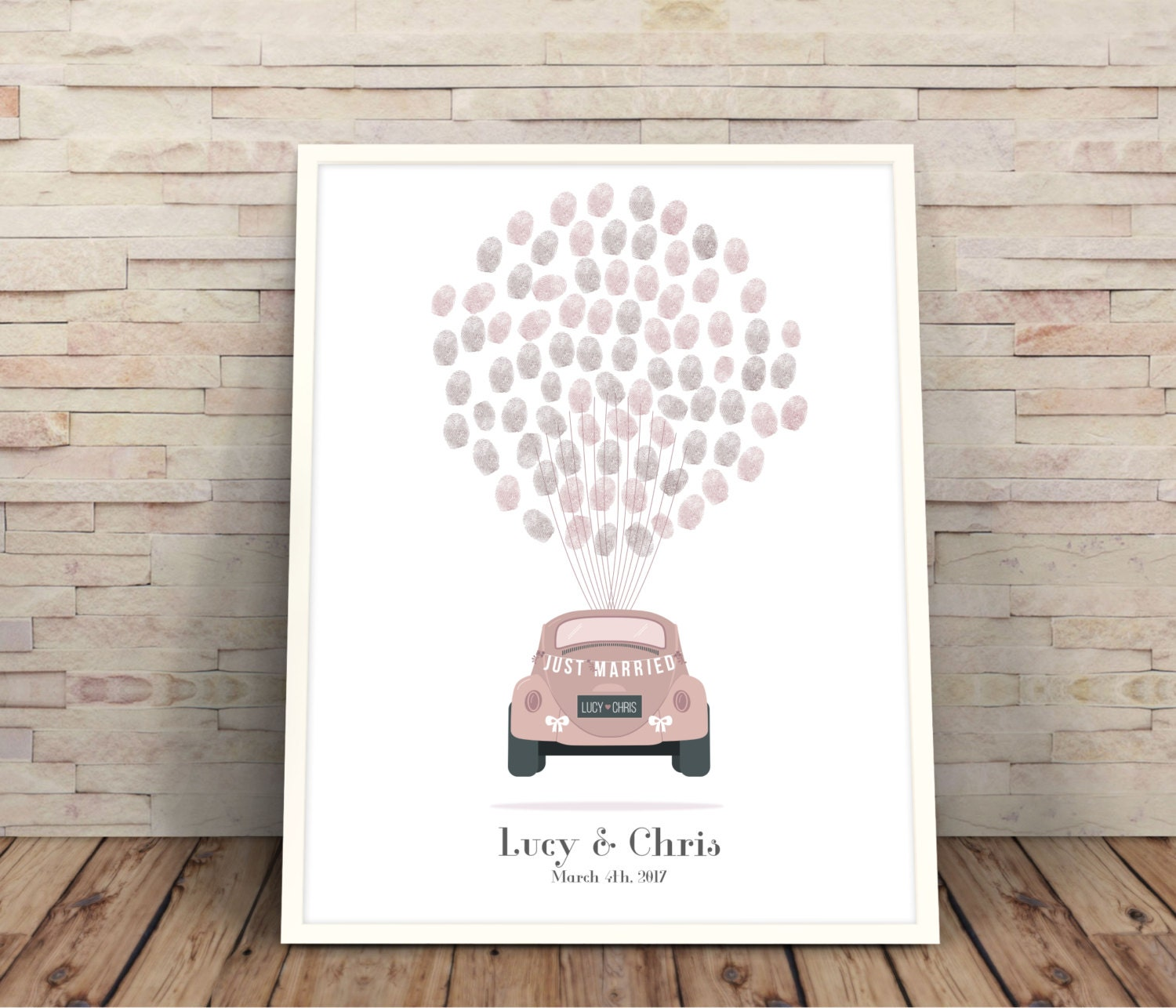 Car fingerprint wedding