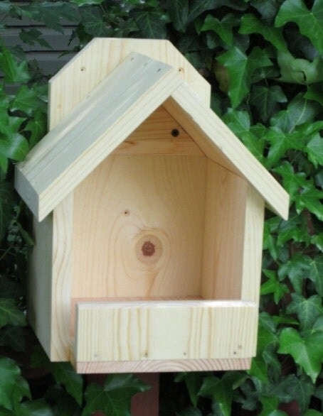 Handcrafted natural wood cardinal nesting shelf by jewelzfordayze - Building a home according to cardinal directions ...