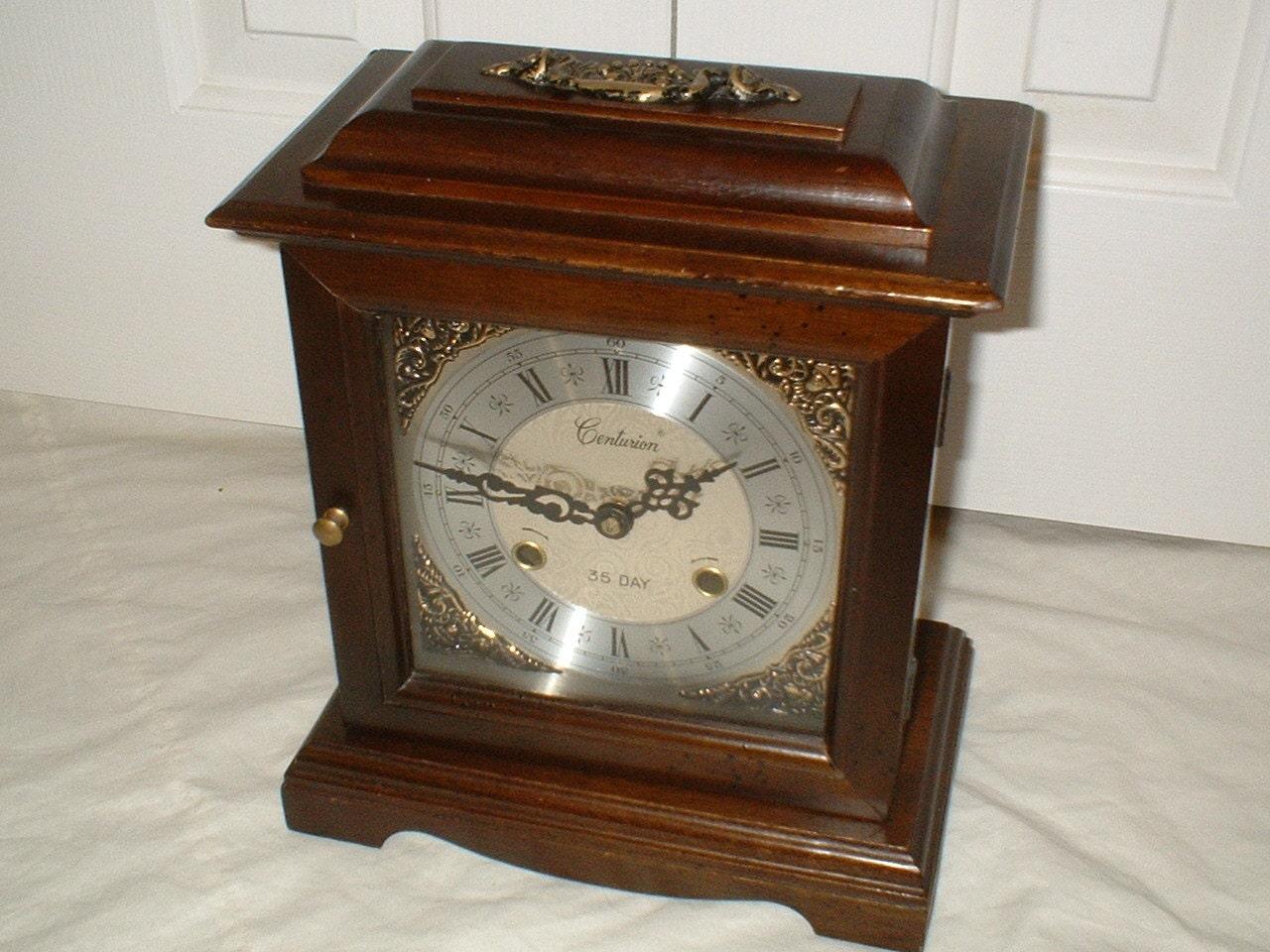 Vintage Centurion 35 Day Chiming Mantel Clock Bracket By