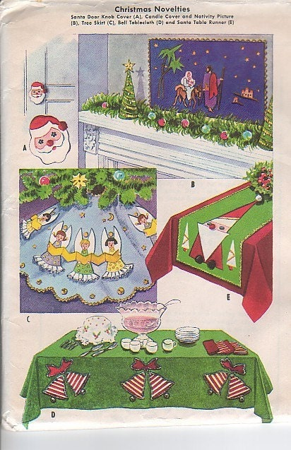 Vintage mccalls sewing pattern christmas by