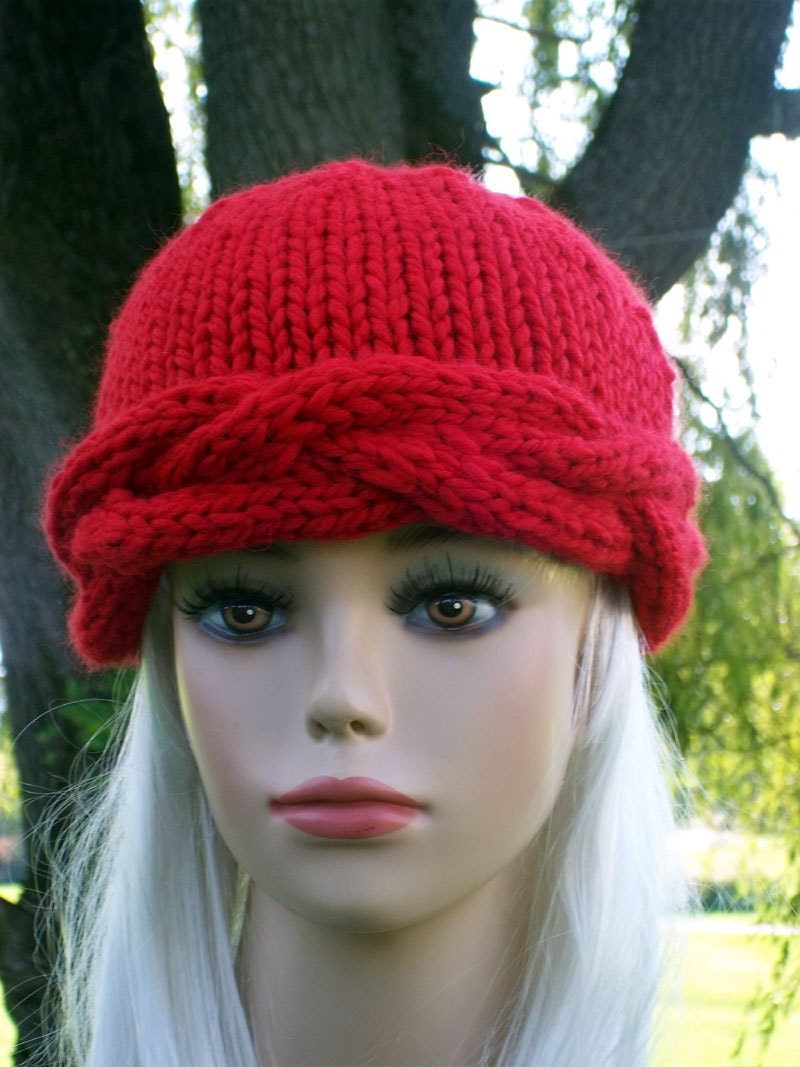 Items similar to Knit Cable Hat Pattern Headband Braided Cables on Etsy