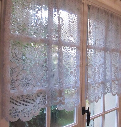 grey curtains kitchen cafe curtains lace by hatchedinfrance