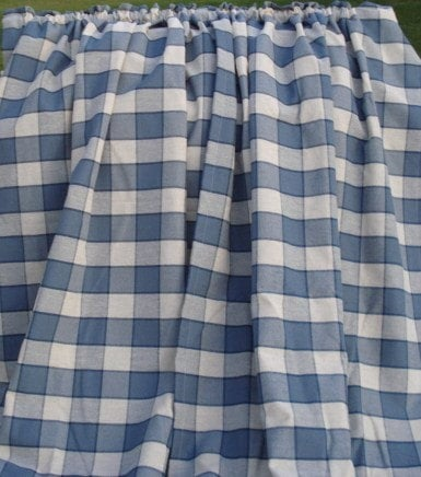 Blue And White Patterned Curtains White and Blue Plaid Waverly