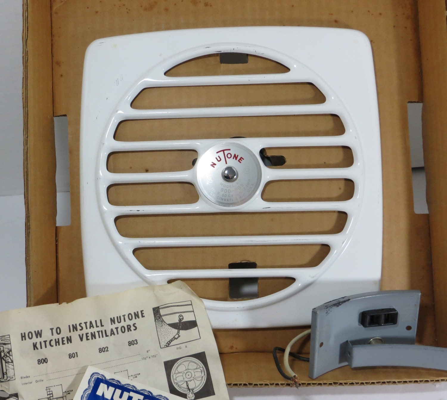 Nutone Kitchen Exhaust Fans: Vintage 1950s Kitchen Exhaust Fan Nutone 8 Inch By