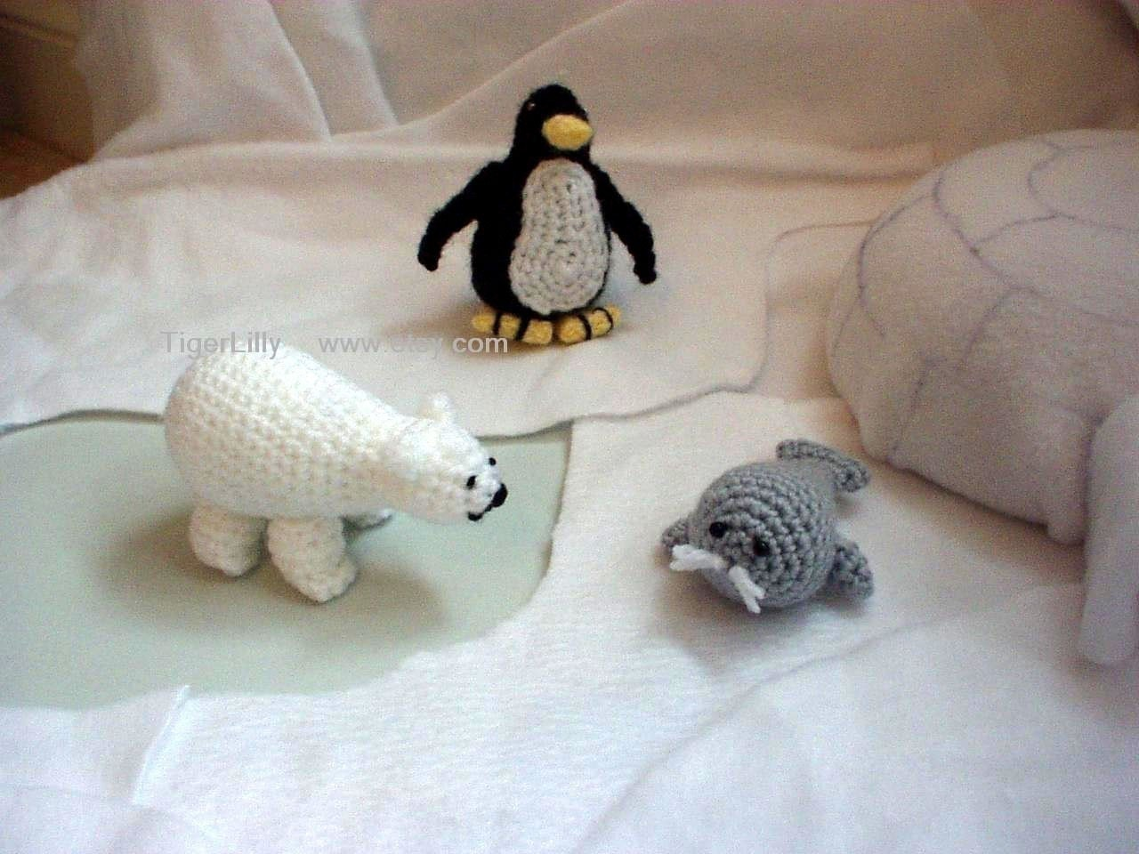 Polar Pals Penguin Polar Bear Seal Amigurumi crochet by ...