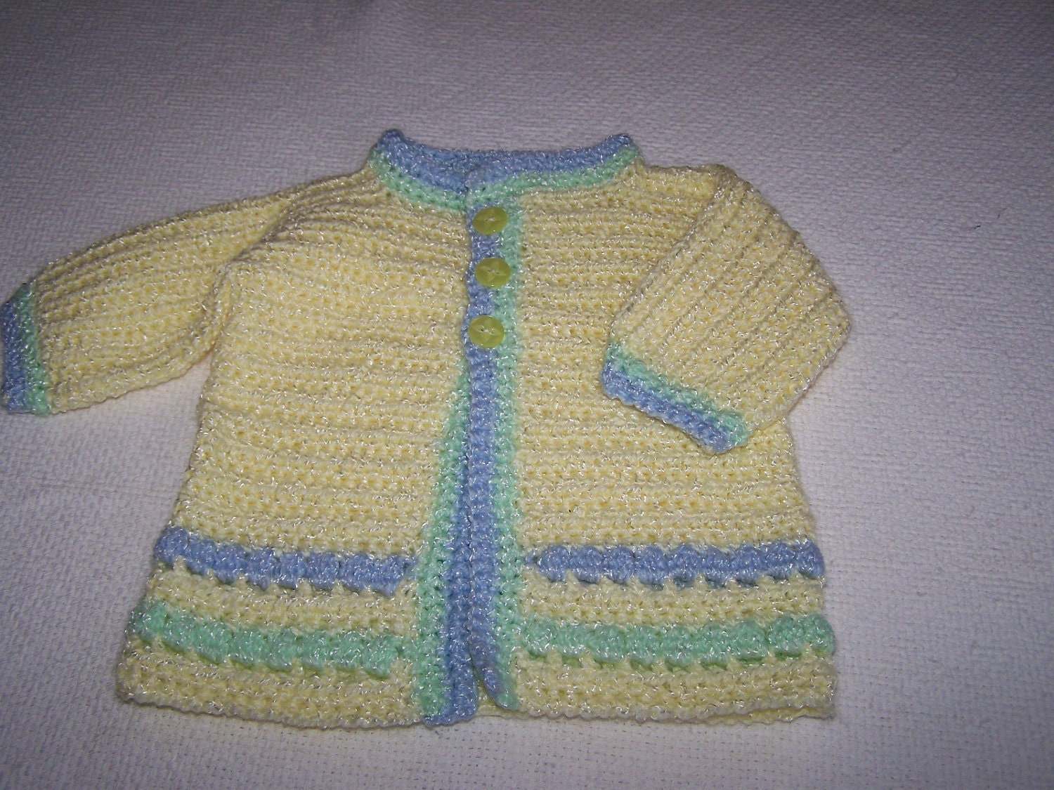 Crocheted Newborn Spring Sweater