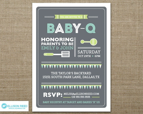 Example Baby Shower Invitation is great invitations template