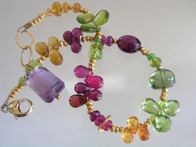 Emerald Green and Blue Glass Bead Bracelet
