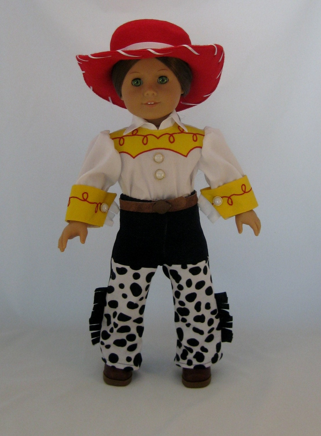 Doll Clothes Jesse Cowgirl Costume fits American Girl or other 18 inch Dolls