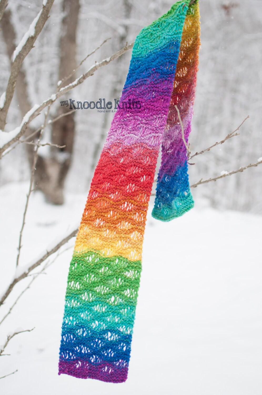 Knit Drop Stitch Scarf Pattern : Items similar to Womens Scarf, Drop Stitch Pattern Lace-like Scarf, Wint...