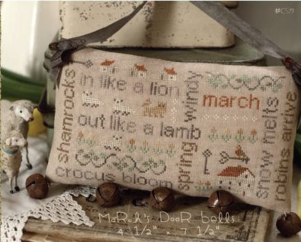 Cross stitch pattern March Word Play Country Stitches With Thy Needle & Thread DIY counted cross stitch pattern St. Patrick's Day