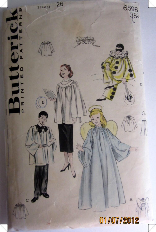 Butterick 6596 angel clown choir robe costume by denisecraft