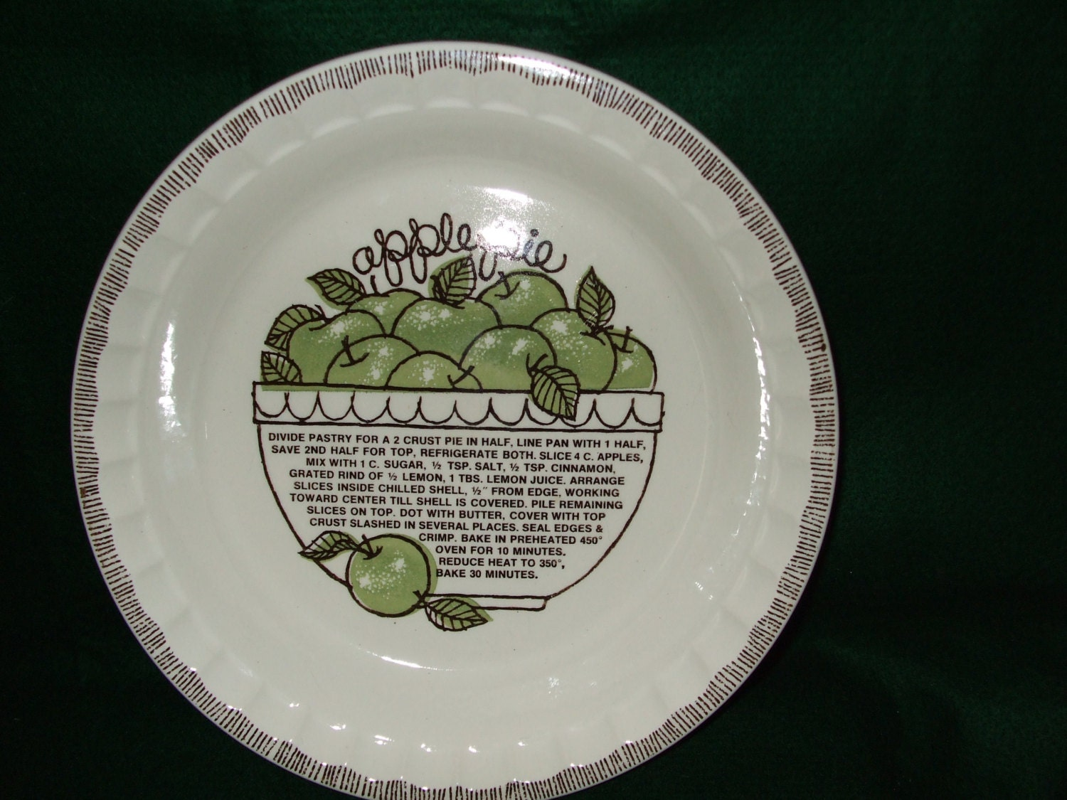 Royal China By Jeannette Apple Pie Plate By