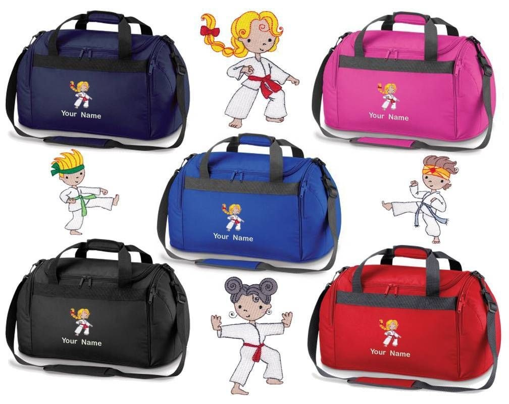 Personalised Embroidered Holdall  With Karate Image