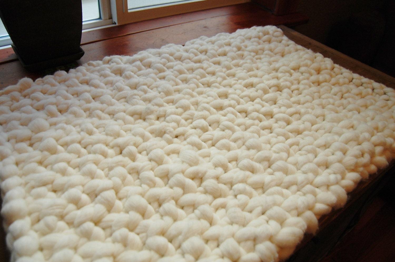 Chunky wool rug