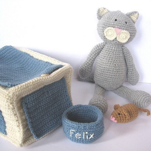 Free Crochet Pattern Dog Carrier : Crochet Pattern Pet Cat with carrier water by ...