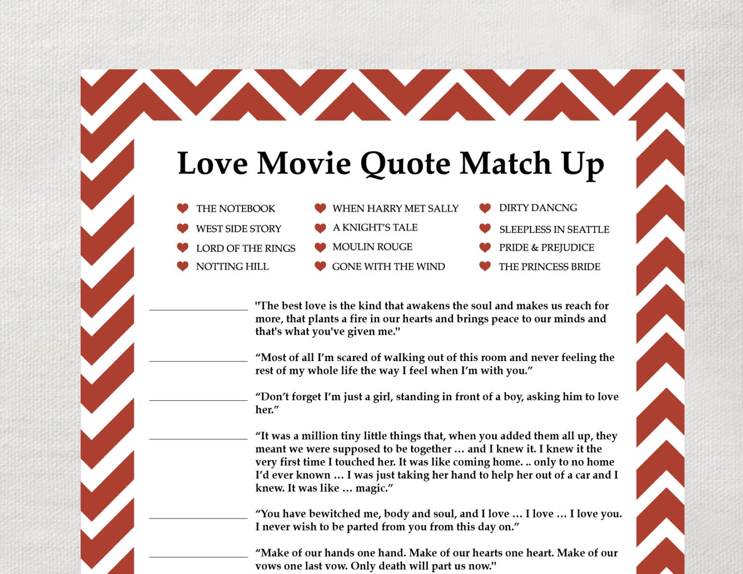 instant love quote matchup instant download by laurevansdesign