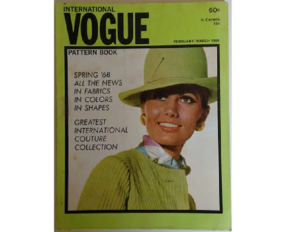 Vintage 60s Vogue Pattern Book Magazine Spring February March 1968 (U.S.A. Edition)